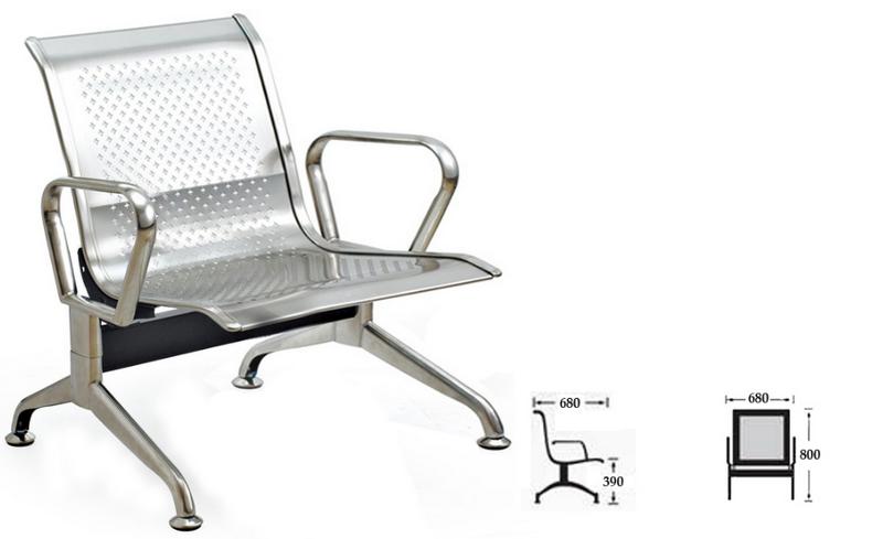 Ghế băng băng chờ inox 1 chỗ ngồi – Mã : 01A