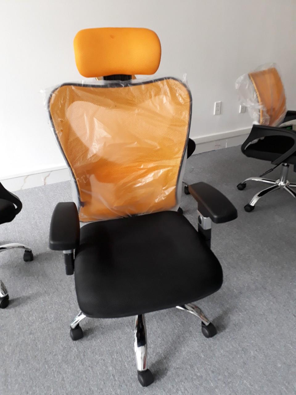 Ghế lưới ngả lưng màu cam KG – 110A