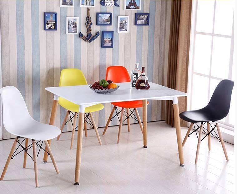 Bộ bàn ăn 80 x 120cm – 4 ghế Eames