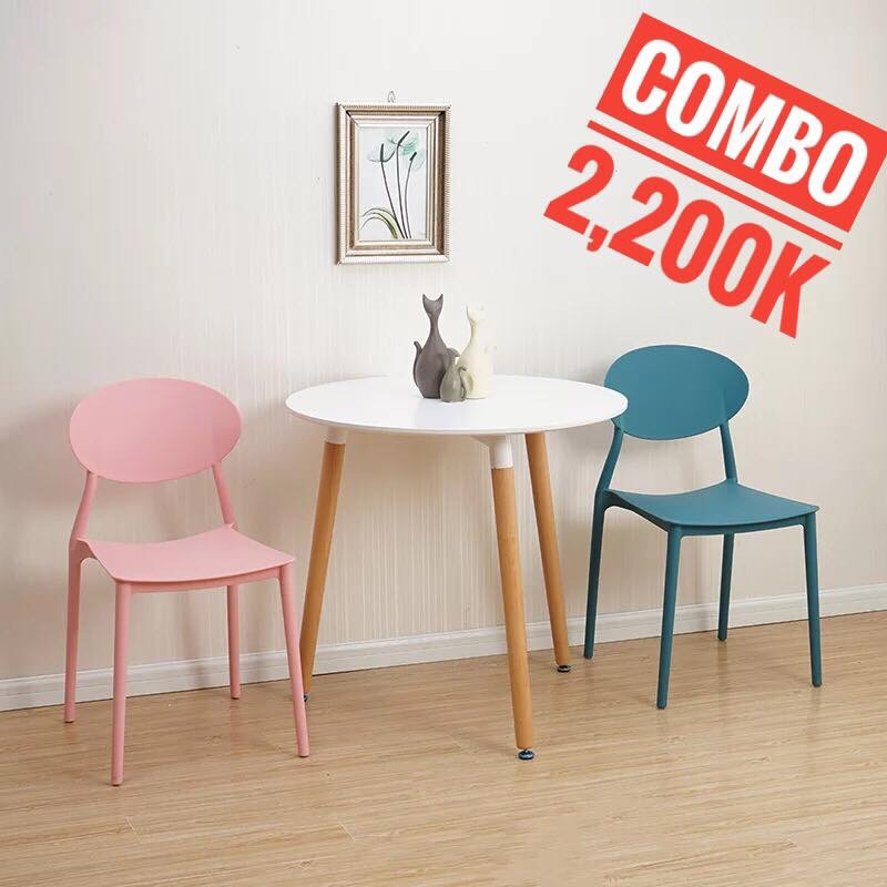 Bộ bàn ghế Tròn 70cm – 2 ghế KG-20