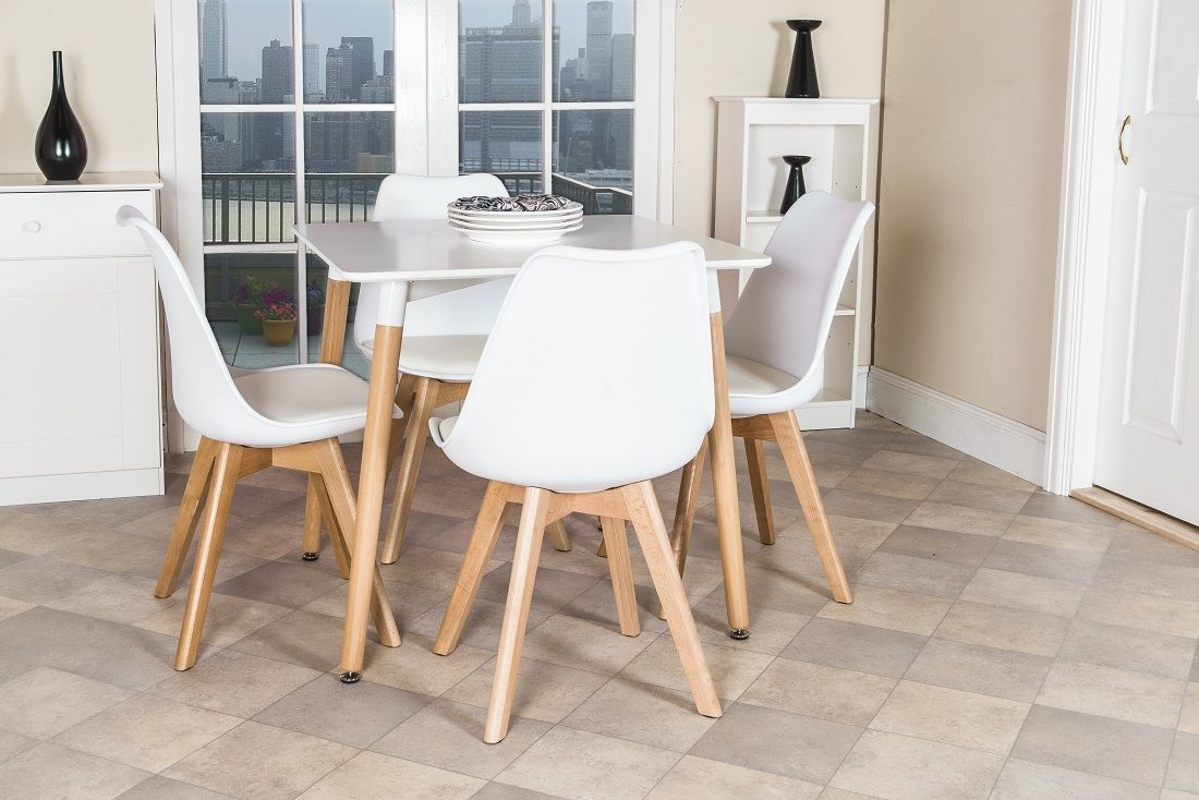 Bộ bàn ăn 60 x 60cm – 4 ghế nệm : KG – V60-4