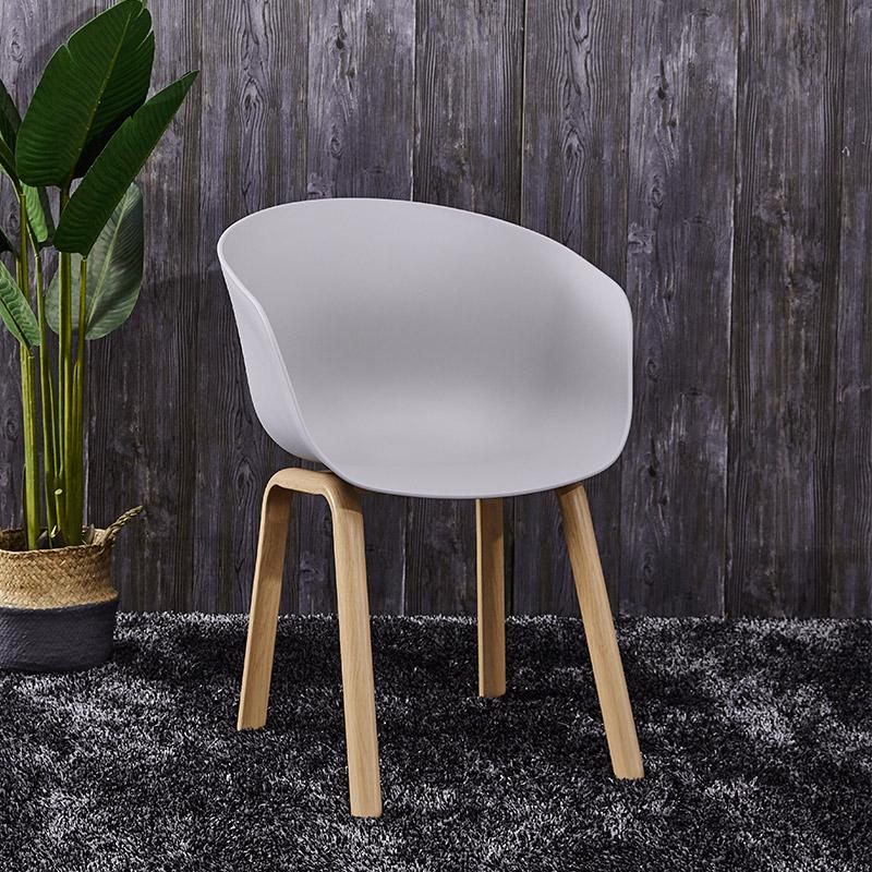 Ghế cafe Hay lưng nhựa chân gỗ nhập khẩu : KG – E234