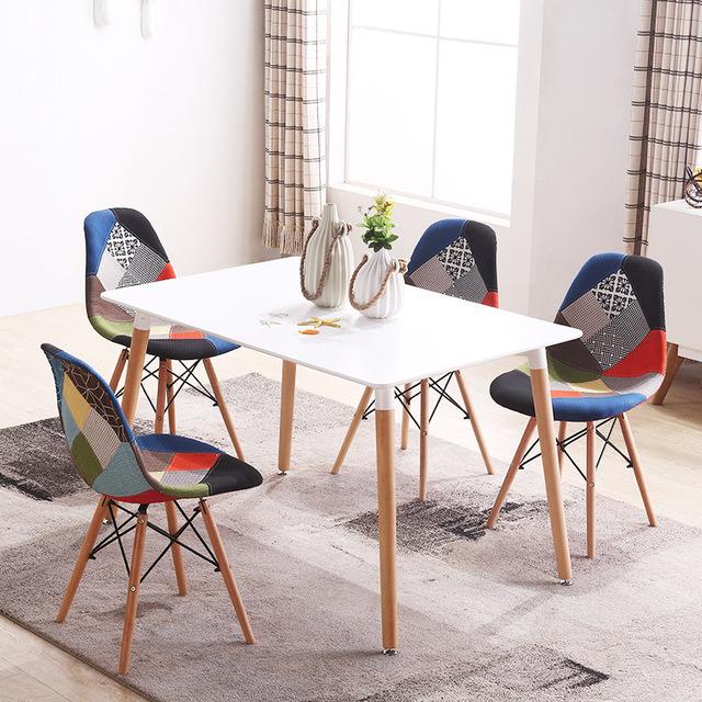Bộ bàn ăn 80 x 120cm – 4 ghế bọc vải