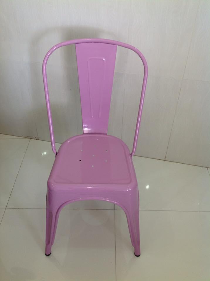 Ghế tolix màu hồng KG-01
