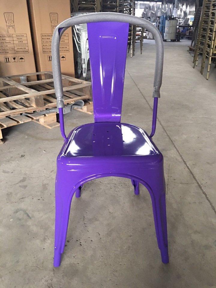 Ghế tolix màu tím KG-01