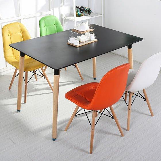 Bộ bàn ăn 120 + 4 ghế Eames JC – 01