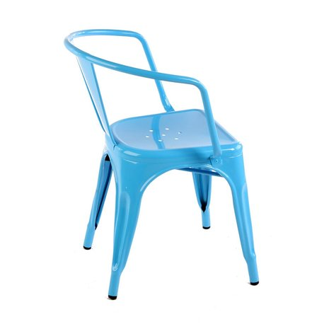 Ghế tolix có tay màu xanh biển KG-03