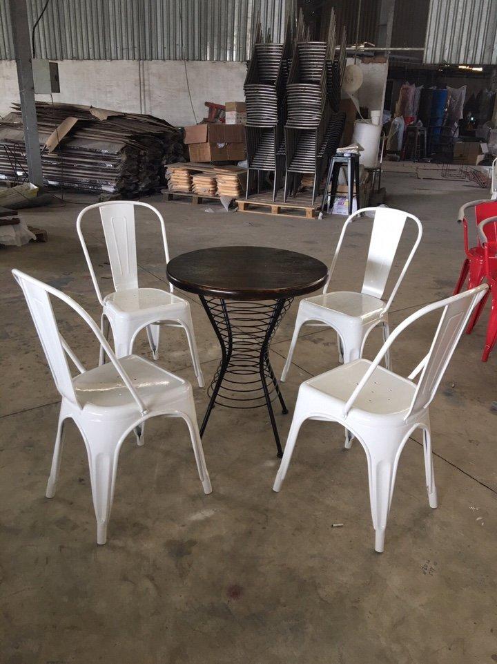 Ghế tolix màu trắng KG-01