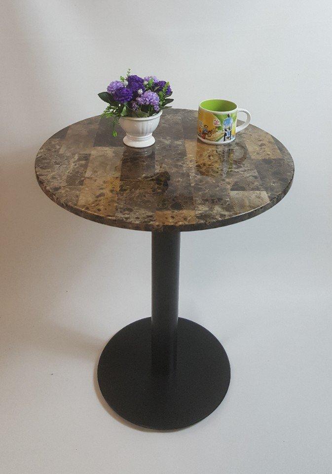 Bàn cafe chân sắt sơn giả đá DC – 02