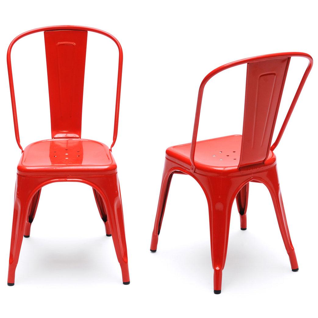 Ghế tolix màu đỏ KG – 01