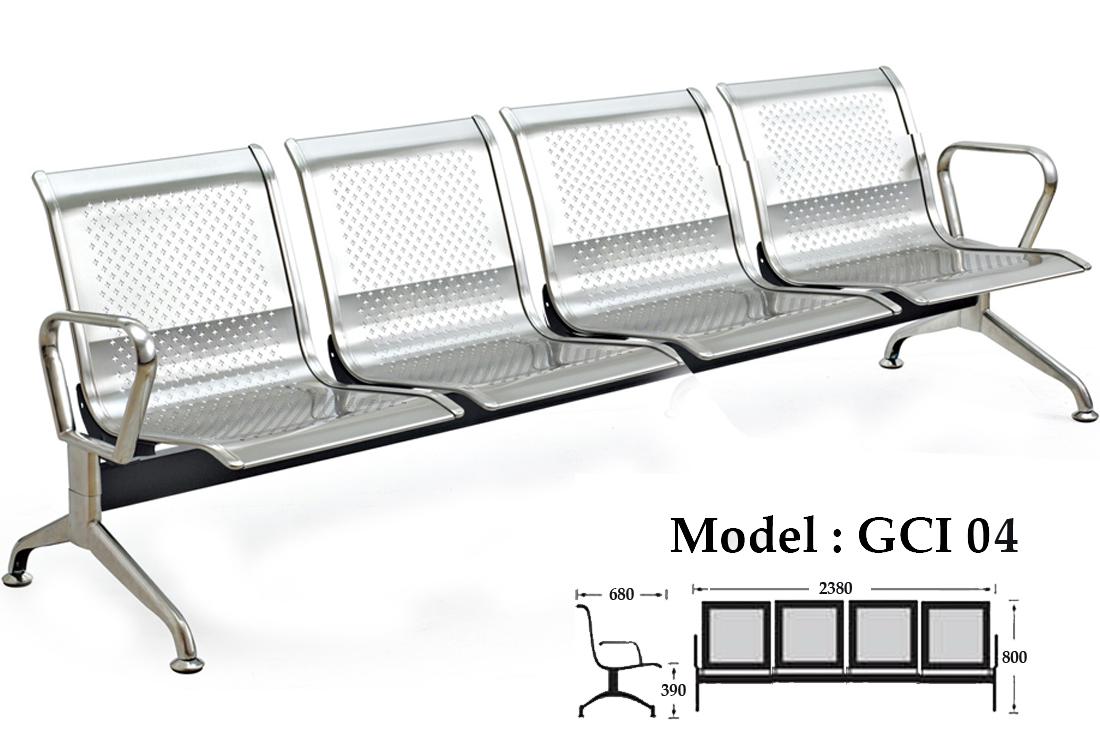 Ghế băng chờ inox 4 chỗ ngồi KG – 04A