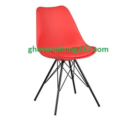 Ghế cafe, ghế ăn nhựa chân thép sơn tĩnh điện – KG-186A