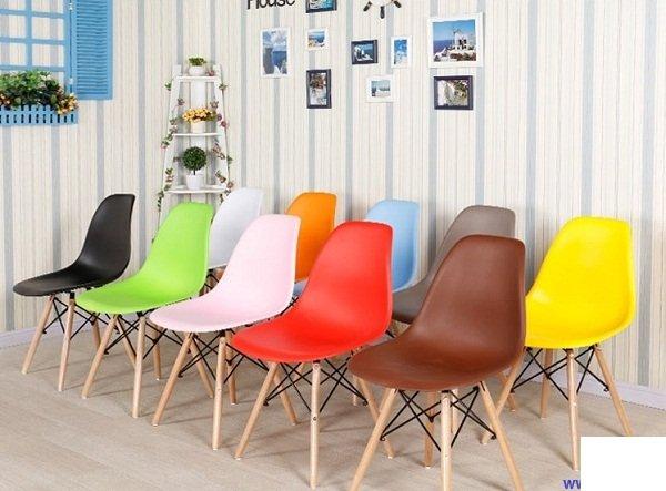 Ghế cafe, ghế ăn nhựa chân gỗ KG-180