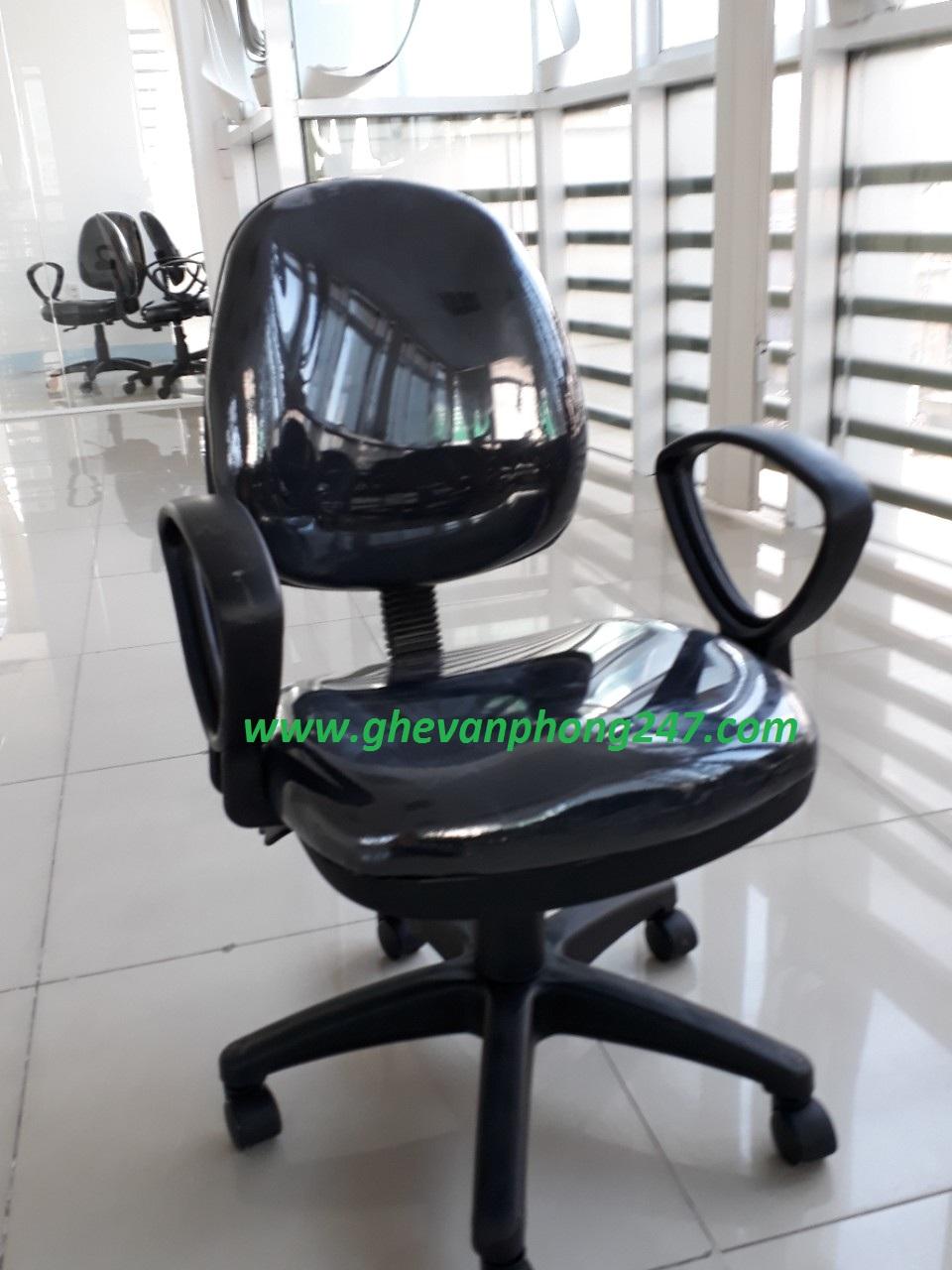 Ghế lưng bầu màu đen KG-028M
