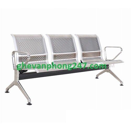 Ghế phòng chờ inox băng 3 ghế – Mã: KG-03A