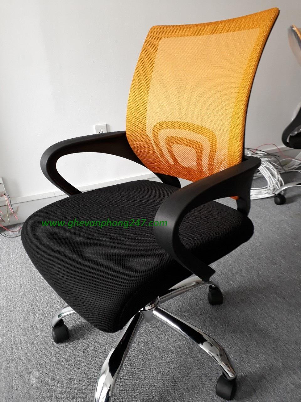 Ghế lưới văn phòng màu cam KG-112