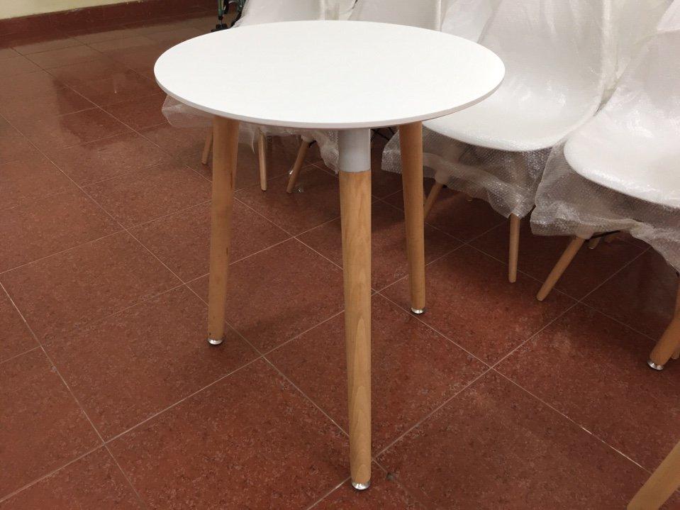 Bàn cafe 3 chân gỗ mặt 60cm KG – 6033