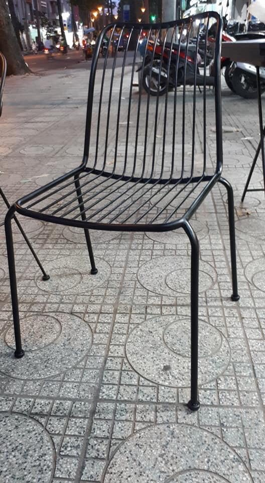 Ghế cafe sắt sơn tĩnh điện CF-014