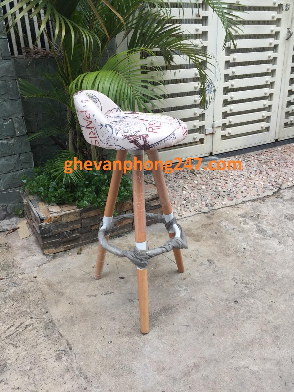 Ghế bar – 3 chân gỗ KG-246