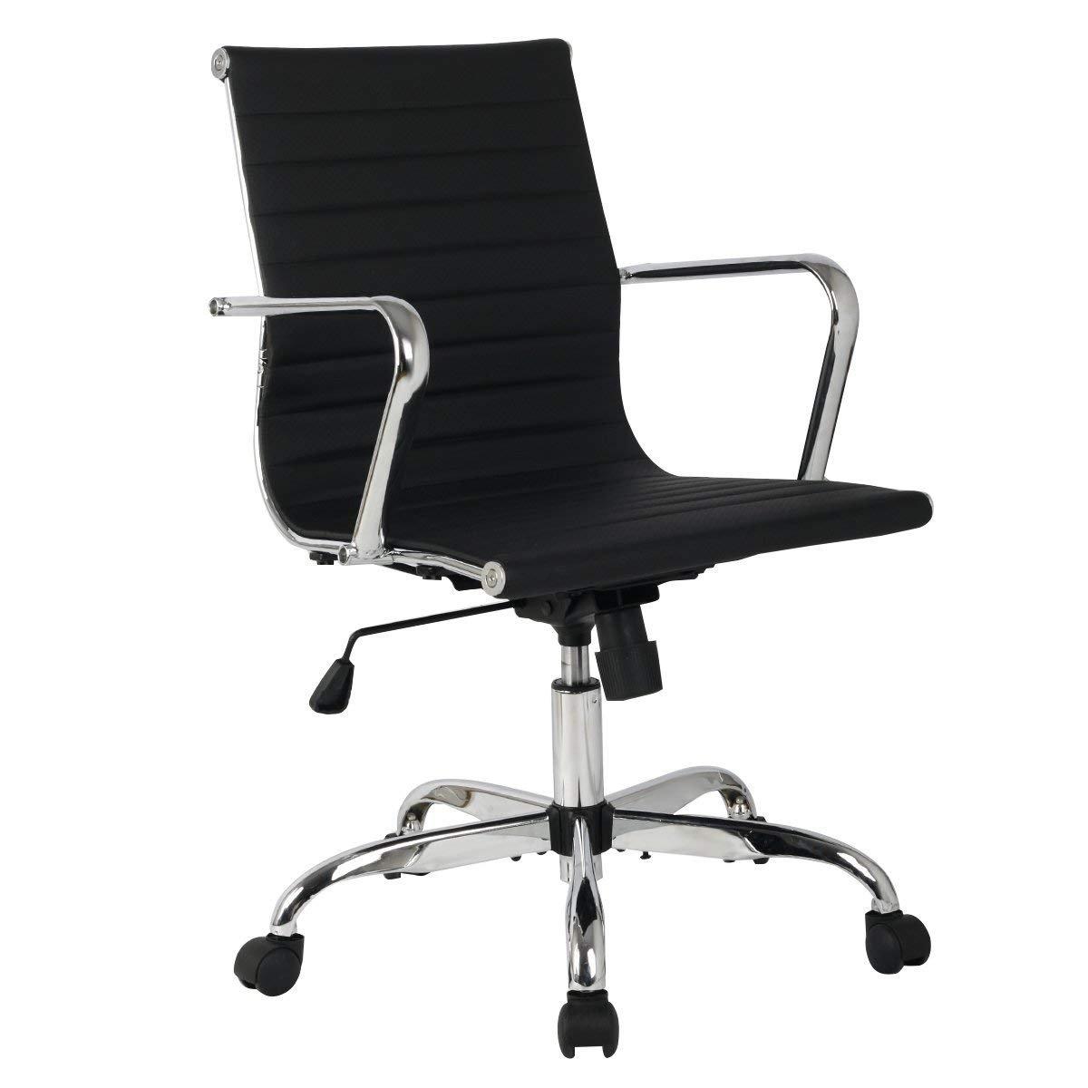Ghế da PU lưng trung mâm nhỏ KG – 317D