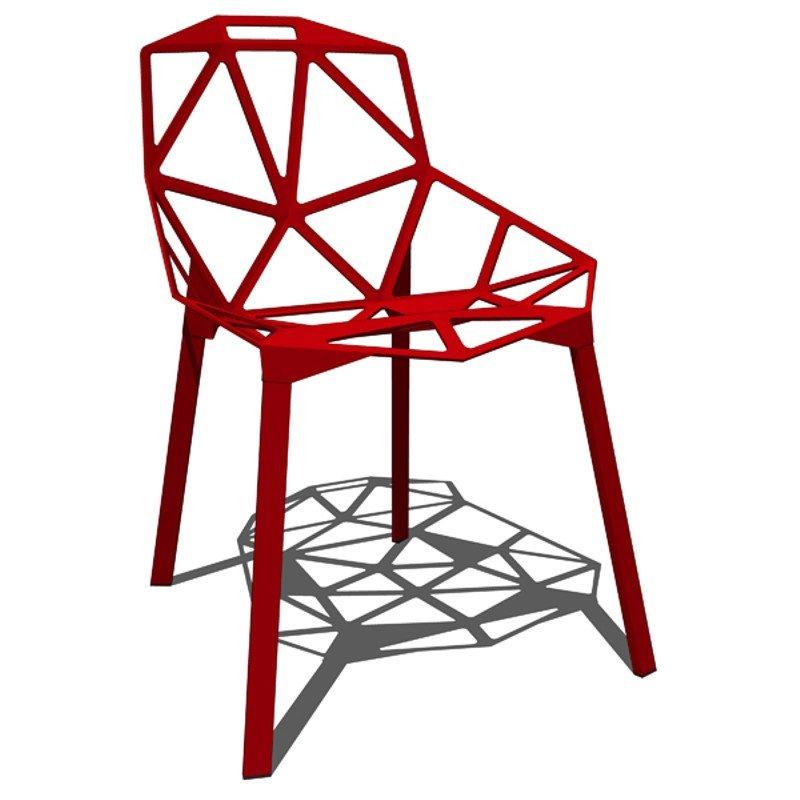 Ghế nhựa chân sắt ONE CHAIR
