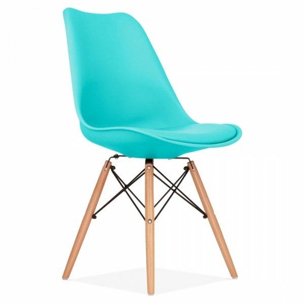 Ghế eames bọc nệm chân gỗ nhỏ hiện đại