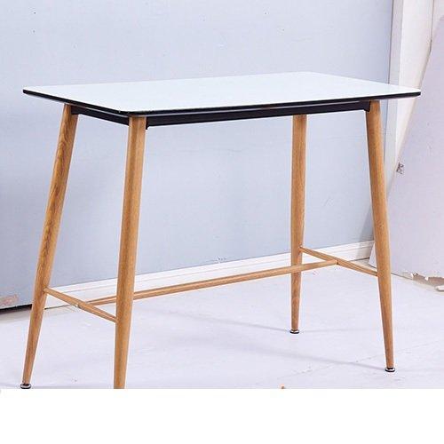 Bàn ăn bàn cafe 4 chân thép sơn giả gỗ – Mã: E110