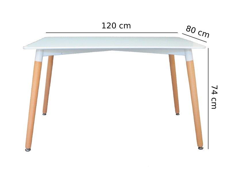 Bàn Eames chữ nhật 120×80