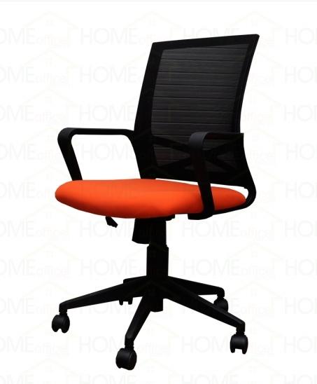 Ghế nhân viên lưng lưới đệm cam – H015