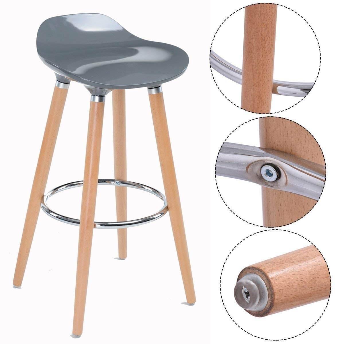 Ghế quầy bar 4 chân gỗ mặt nhựa ABS KG – 108