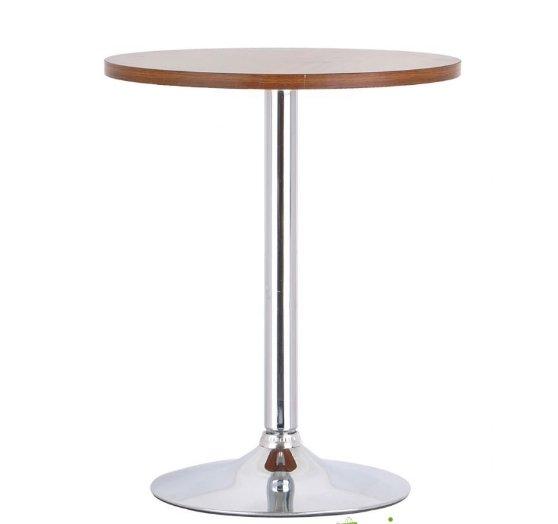 Bàn ăn bàn cafe tròn mặt gỗ, chân trụ – Mã T102