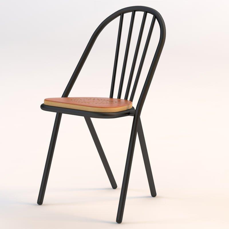 Ghế cafe khung sắt mặt gỗ ngoài trời- Mã 242