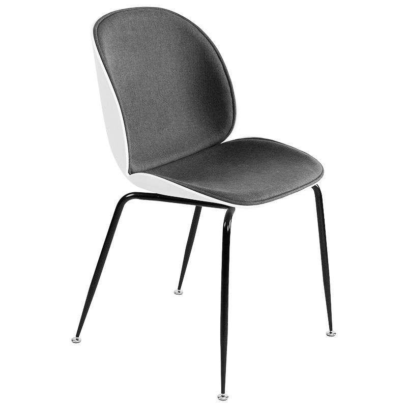 Ghế ăn – cafe bọc nệm vải chân sắt Beetle – Mã : 233