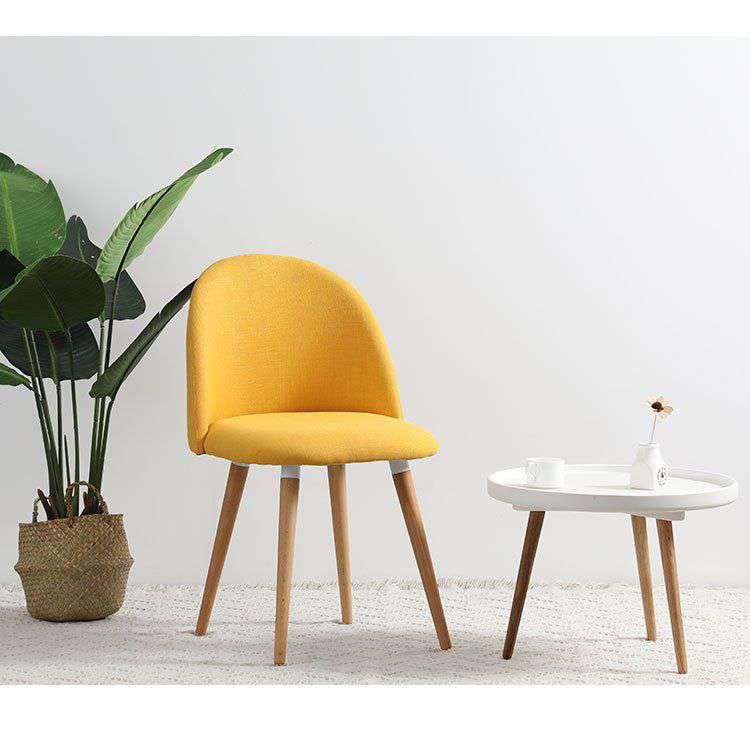 Ghế cafe – ghế ăn bọc vải chân gỗ đẹp giá rẻ – Mã : 109