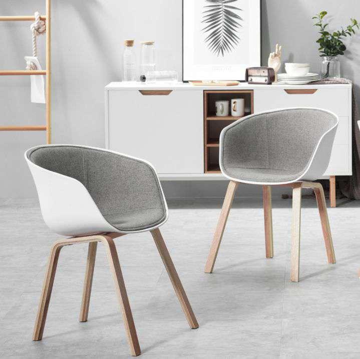 Ghế phòng ăn lót nệm vải chân gỗ – Mã : 234
