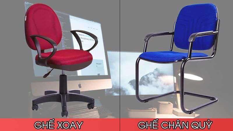 Đặc điểm khác nhau của ghế chân xoay văn phòng và ghế chân quỳ cho nhân viên