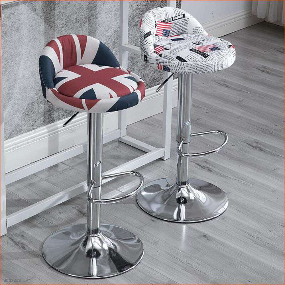 Ghế bar chân sắt nệm ngồi bọc vải – Mã : V200