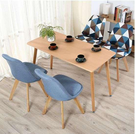 Ghế cafe – ghế ăn bọc vải chân gỗ – Mã : G191