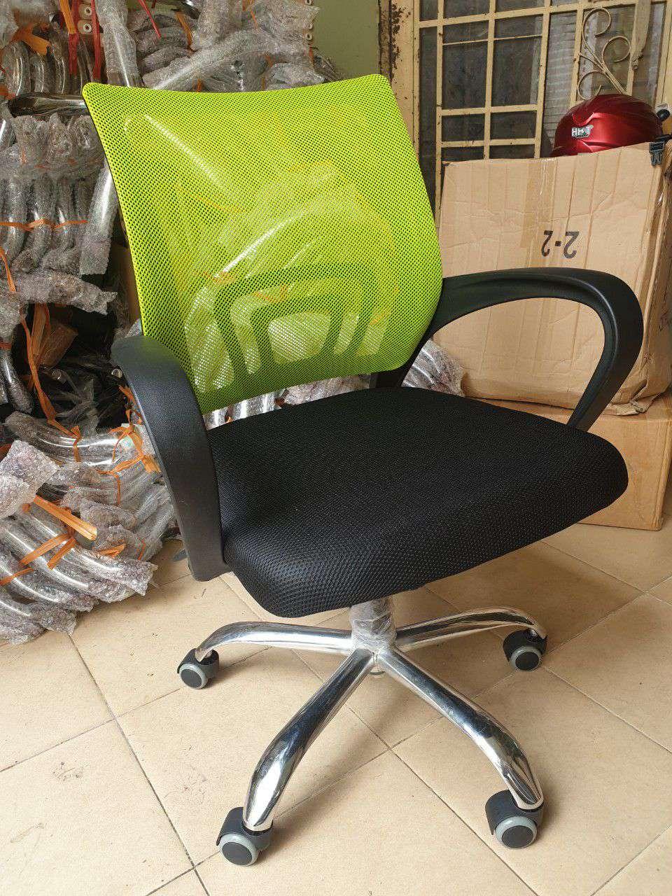 Ghế văn phòng lưng lưới : KG – 528 Xanh chuối