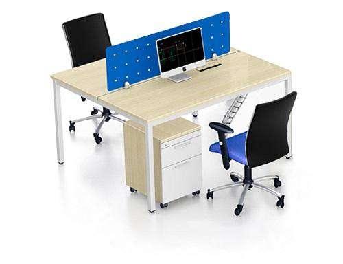 Cụm bàn làm việc 2 chỗ ngồi + vách ngăn kính – Mã : VBN-T2D