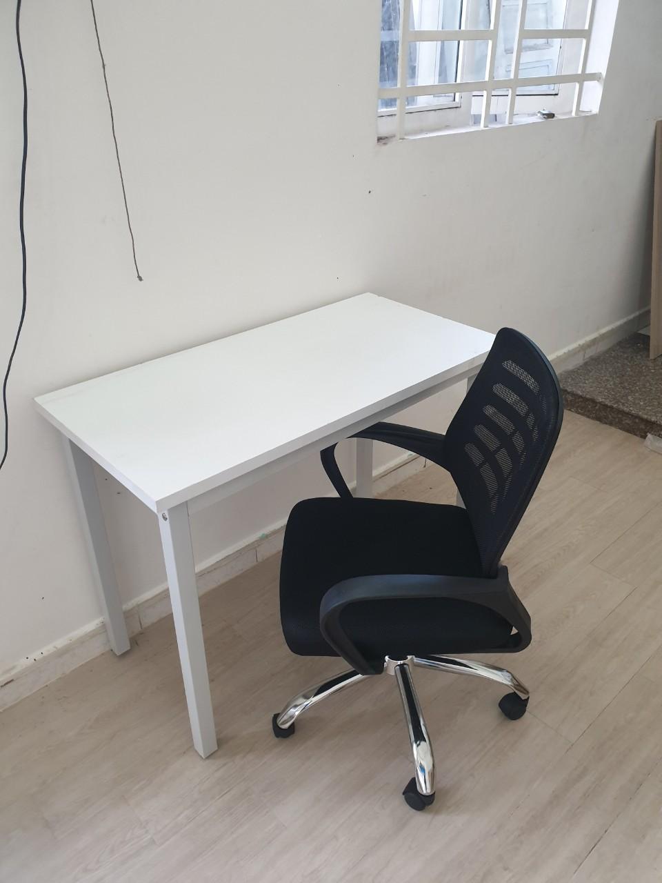 Combo bộ bàn chân sắt + ghế xoay lưới KG – CB1005
