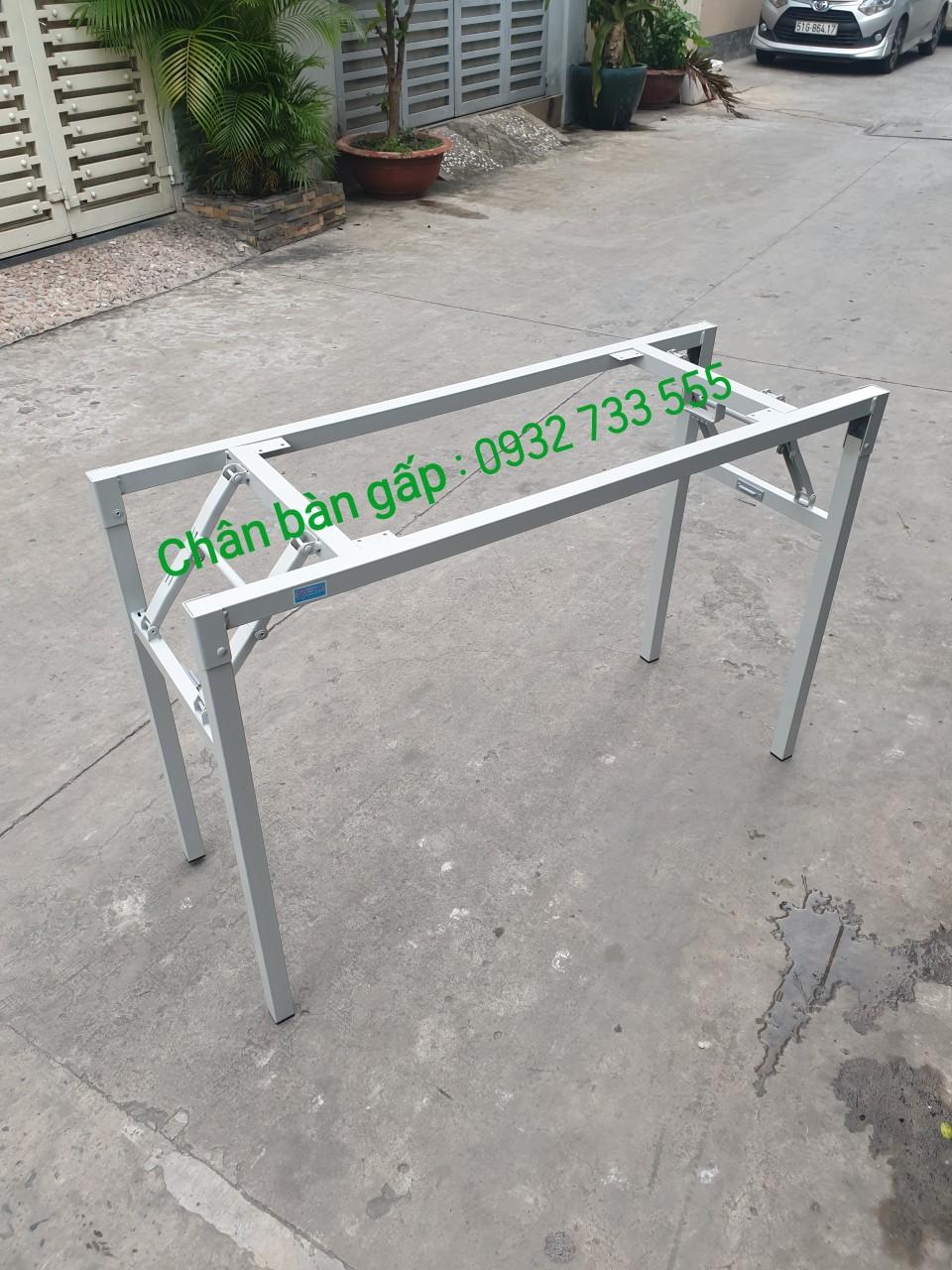 Chân bàn gấp sắt sơn tĩnh điện : CBG120