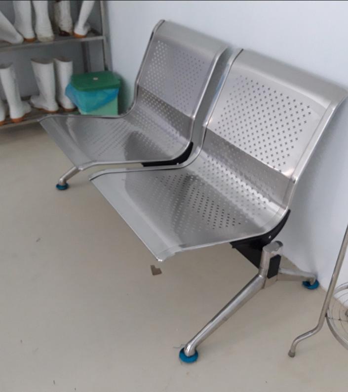 Ghế phòng chờ inox không tay : KG – A602