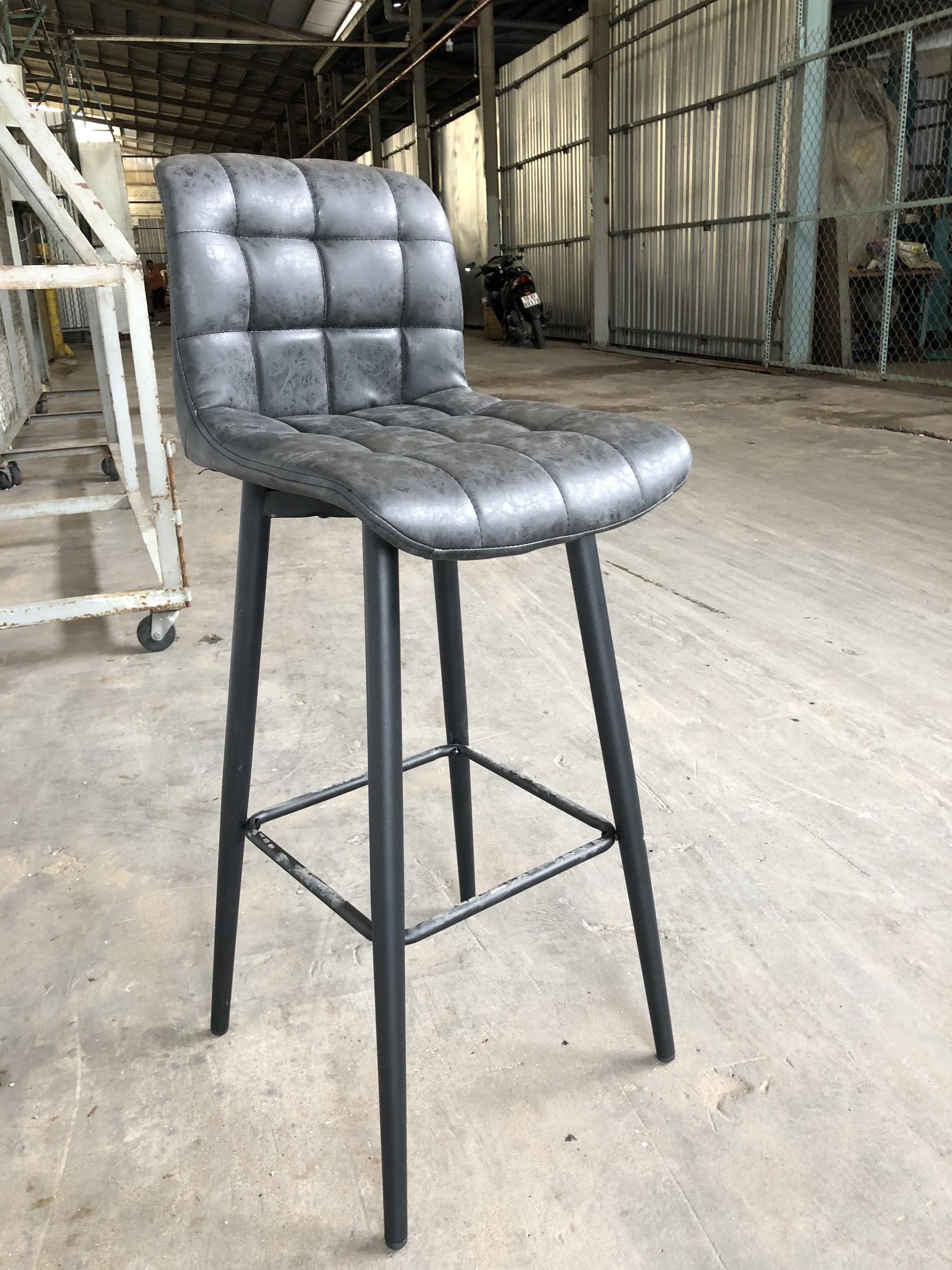 Ghế quầy bar sắt lưng cao : KG – A109