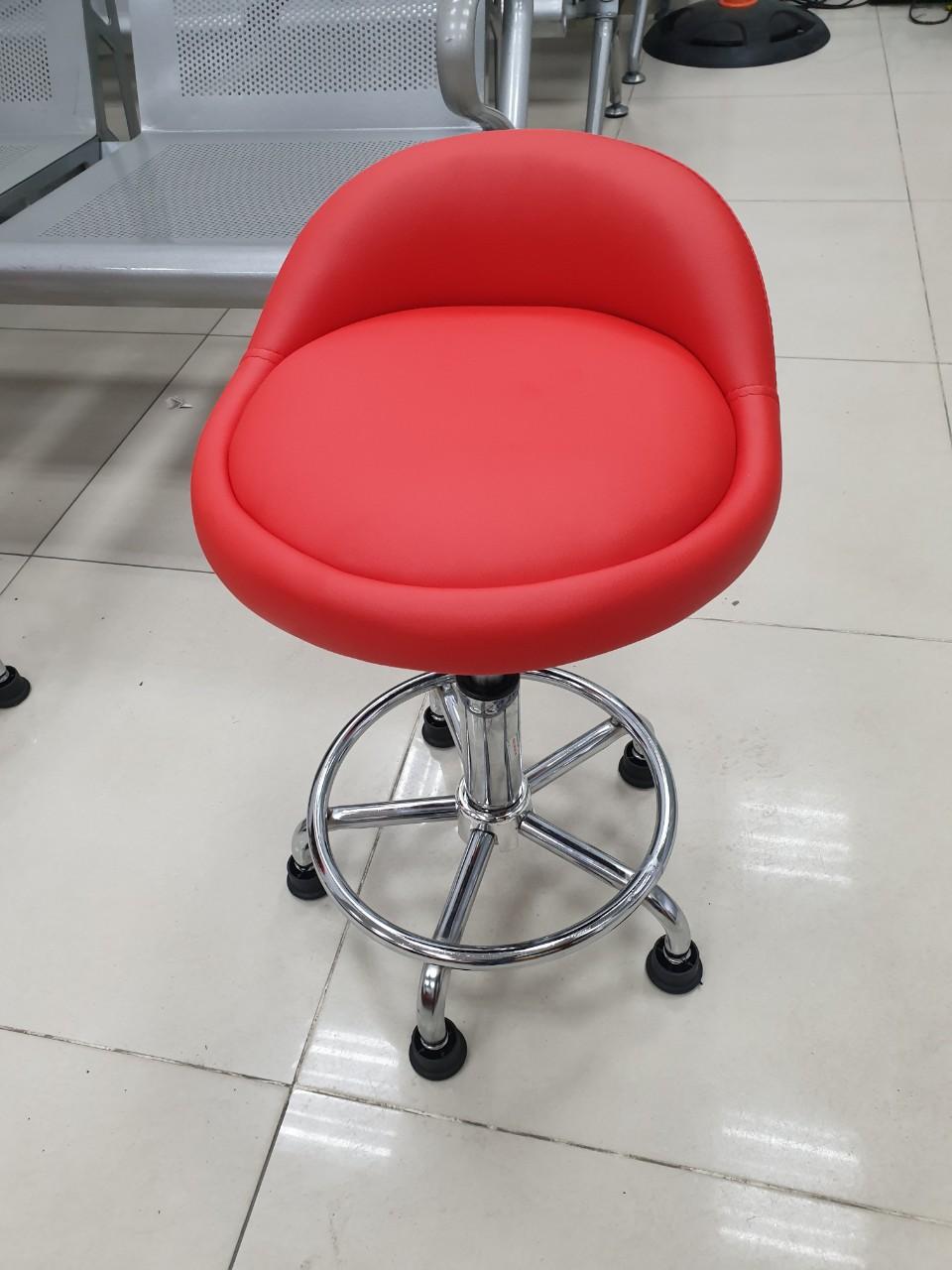 Ghế xoay inox spa chân nút cố đinh : KG – 013B