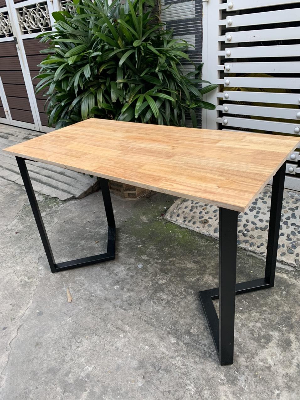 Bàn chân sắt mặt gỗ khung lắp ráp : KG – C120