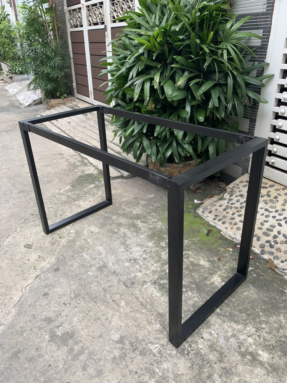 Chân bàn nhân viên sắt 25×50 lắp ráp ngàm : N002