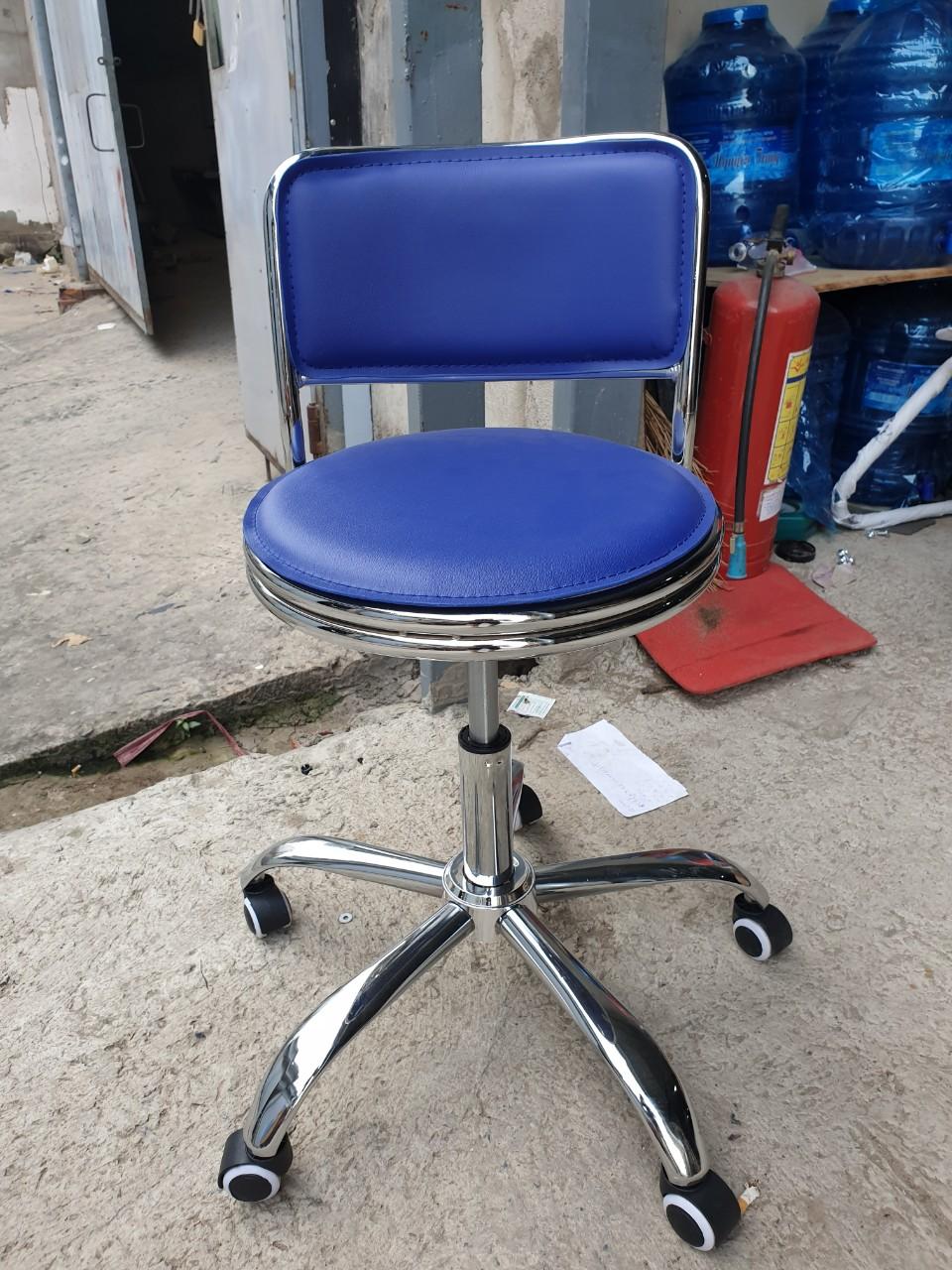 Ghế chân xoay cho spa – ngồi quầy lễ tân : KG – 014X