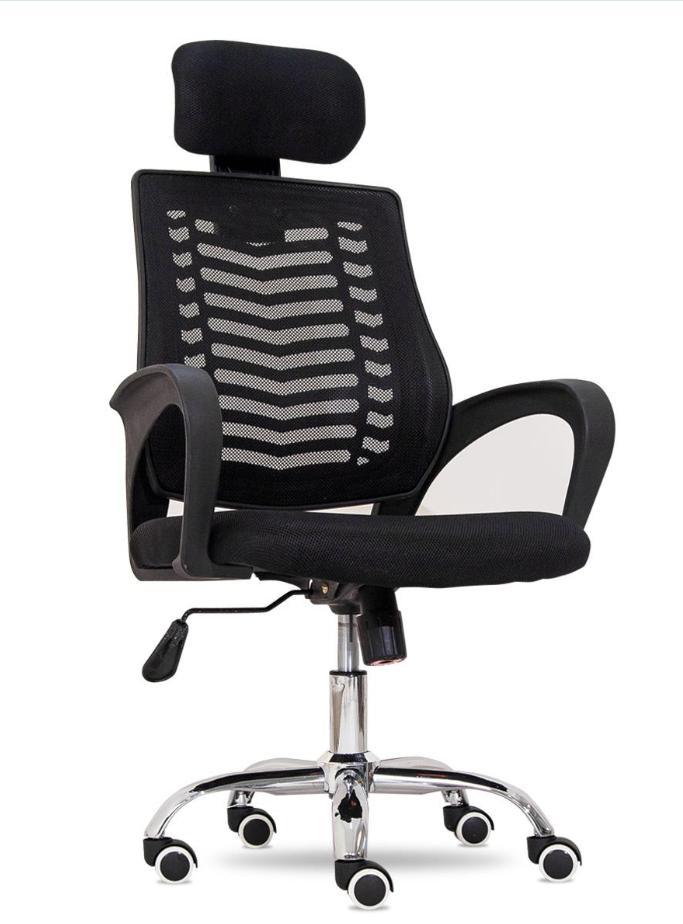 Ghế lưới văn phòng giá rẻ – chân xoay lưng cao có gối đầu : KG – 606