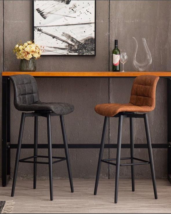 Ghế quầy bar 4 chân sắt phong cách cổ điển xoay tròn : KG – A109 – 1